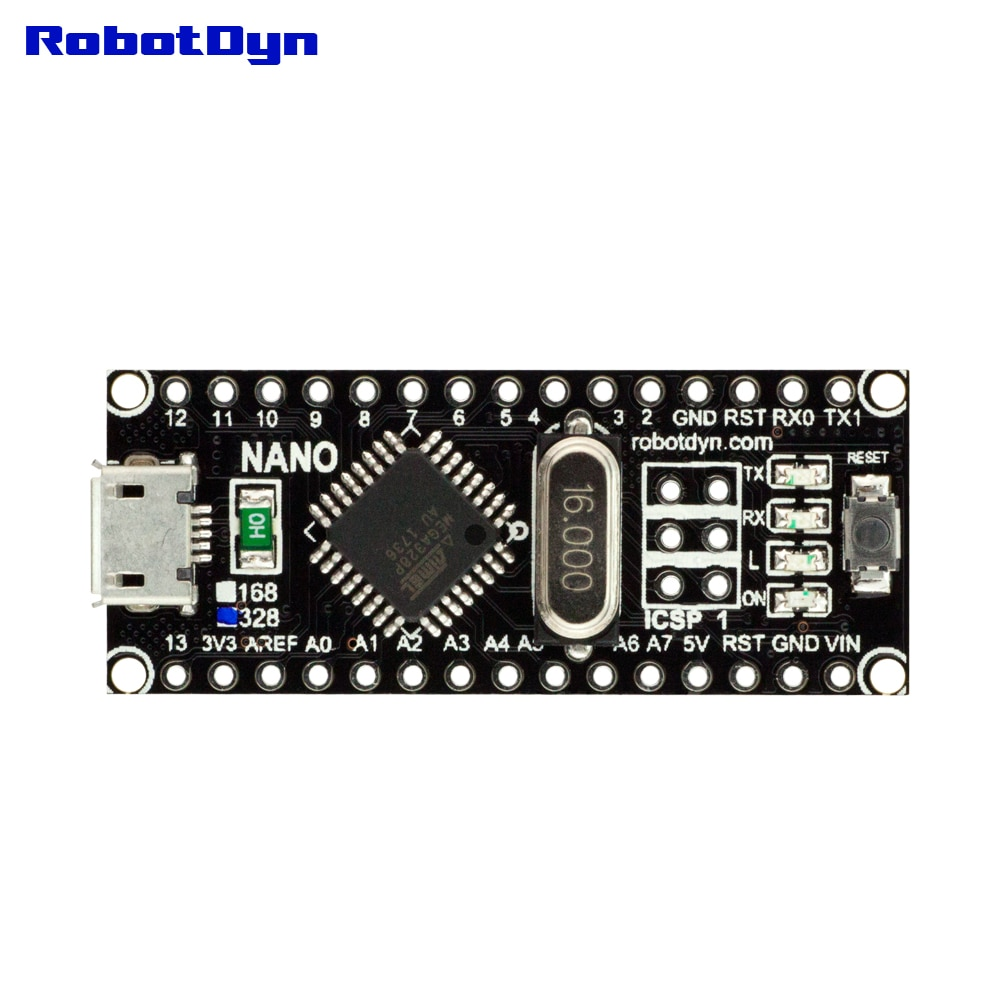 RobotDyn NANO V3 ATmega328, CH340, Micro USB, обновленная версия совместима с Arduino для DIY электронных