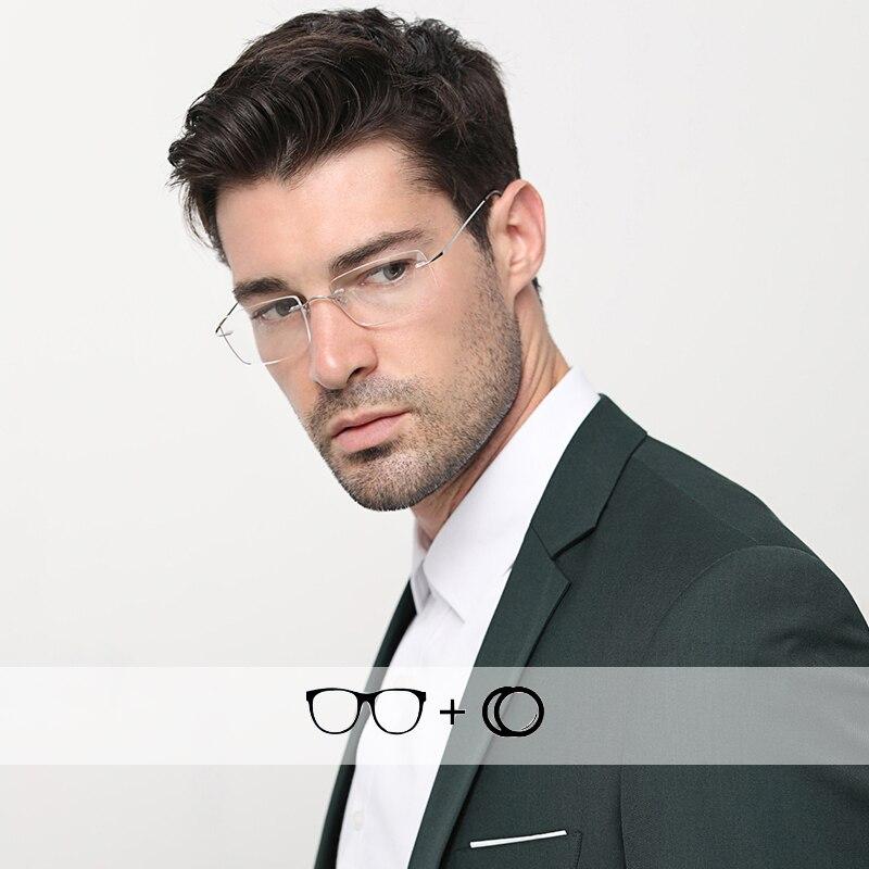 نظارات ديوبتر من التيتانيوم للرجال ، نظارات فوتوكرومية للرجال ، نظارات قراءة احترافية ، بدون إطار ، # CT001