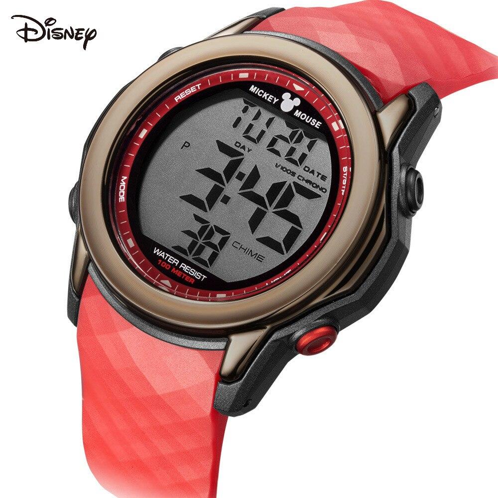 Relógio para Meninos Metro à Prova Esportes da Escola Secundária para Meninos Disney Crianças Dwaterproof Água Relógio Eletrônico 100