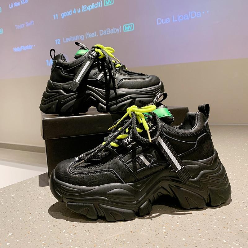 Zapatillas De deporte con plataforma para Mujer, zapatos deportivos transpirables informales a...