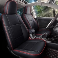 custom fit full set car seat covers for toyota rav4 2013 2014 2015 2016 2017 2018 2019 with waterproof leatherette black