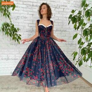 Dark Royal Blue Prom Gown Long 2021 Robe De Bal Femme Longue A Line Chiffon Платье На Выпускной Custom Made Women Party Dresses