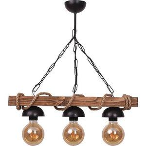 All Home Wood Rope 3 Pcs Rustic Chandelier lighting light stylish retro living room living room