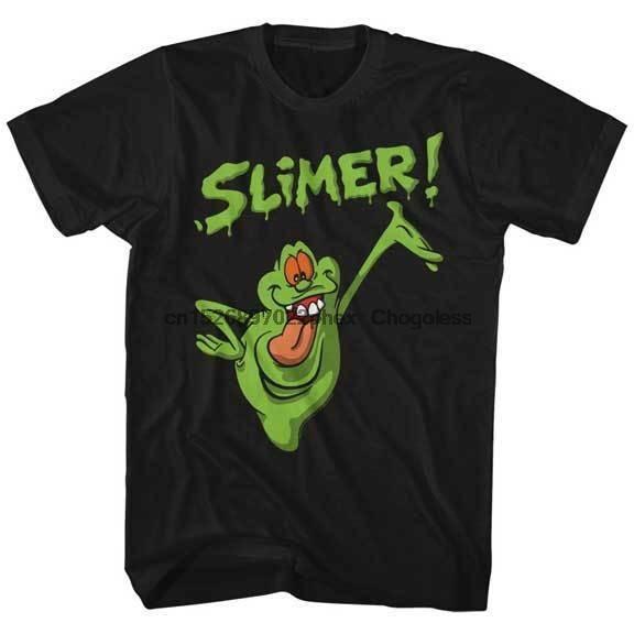 O verdadeiro fantasma busters animado série de tv slimer adulto t camisa