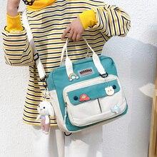 Women Small Cute Rabbit Backpack Female Student College Schoolbag Girls Badge Book Backpack Kawaii L