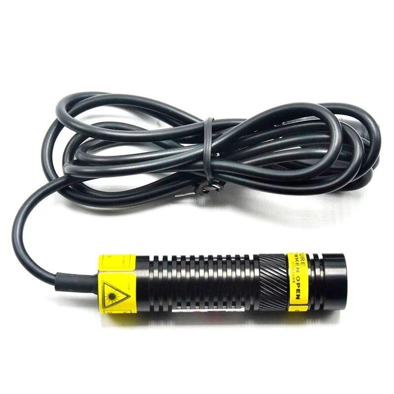 Фокусируемый 515 нм 10 мВт +зеленый лазер диод локатор модуль точка% 2FLine% 2FC Cross Head w 12V адаптер