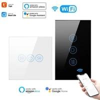 Interrupteur de chauffe-eau WiFi  4400W  Standard ue US  intelligent  fonctionne avec lapplication Tuya Smart Life  fonctionne avec Alexa Google Home