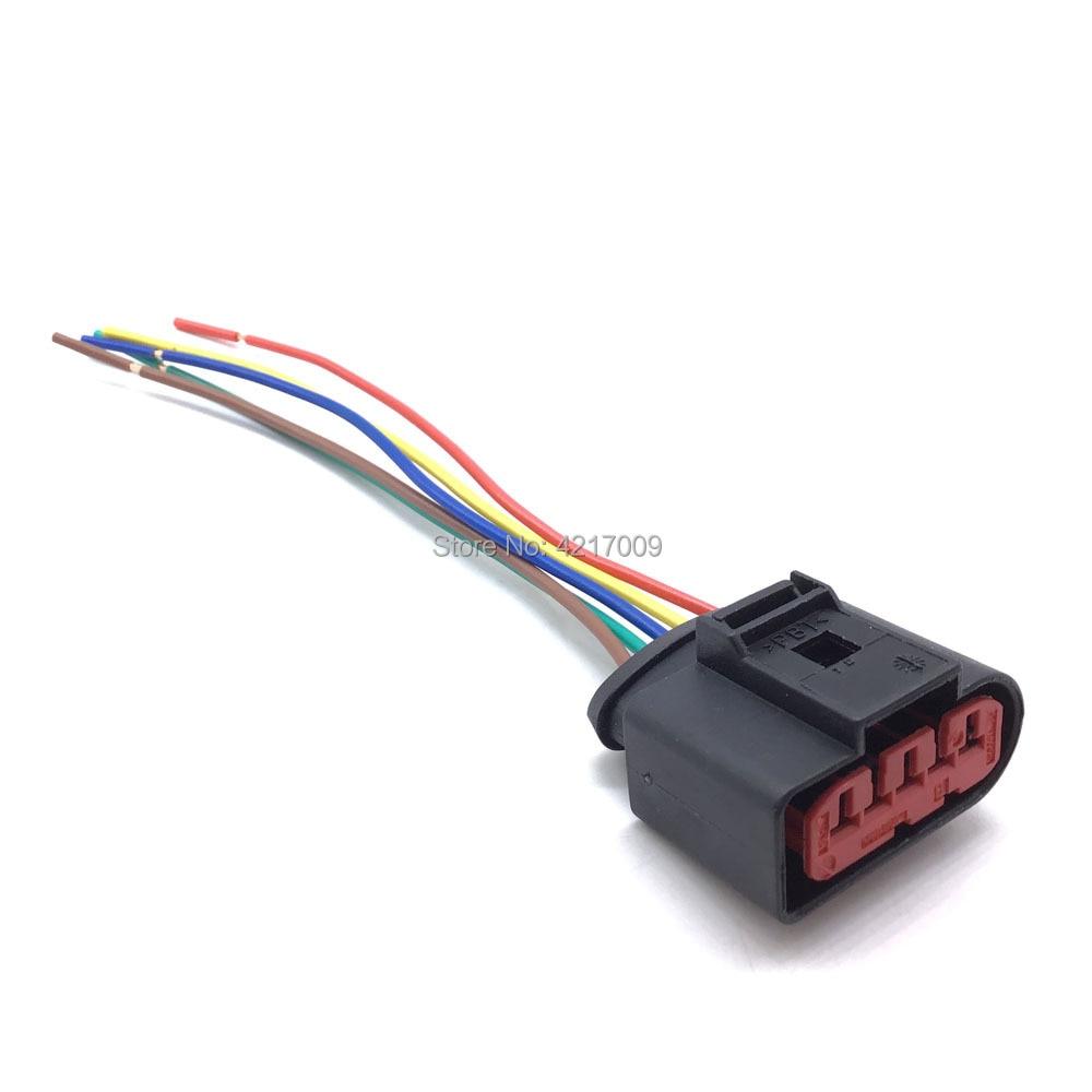 1J0973775A Für VW Beetle Golf Passat Für Audi A4 A6 A8 Für Skoda Luftmassenmesser 5 Pin Stecker adapter Stecker Verdrahtung