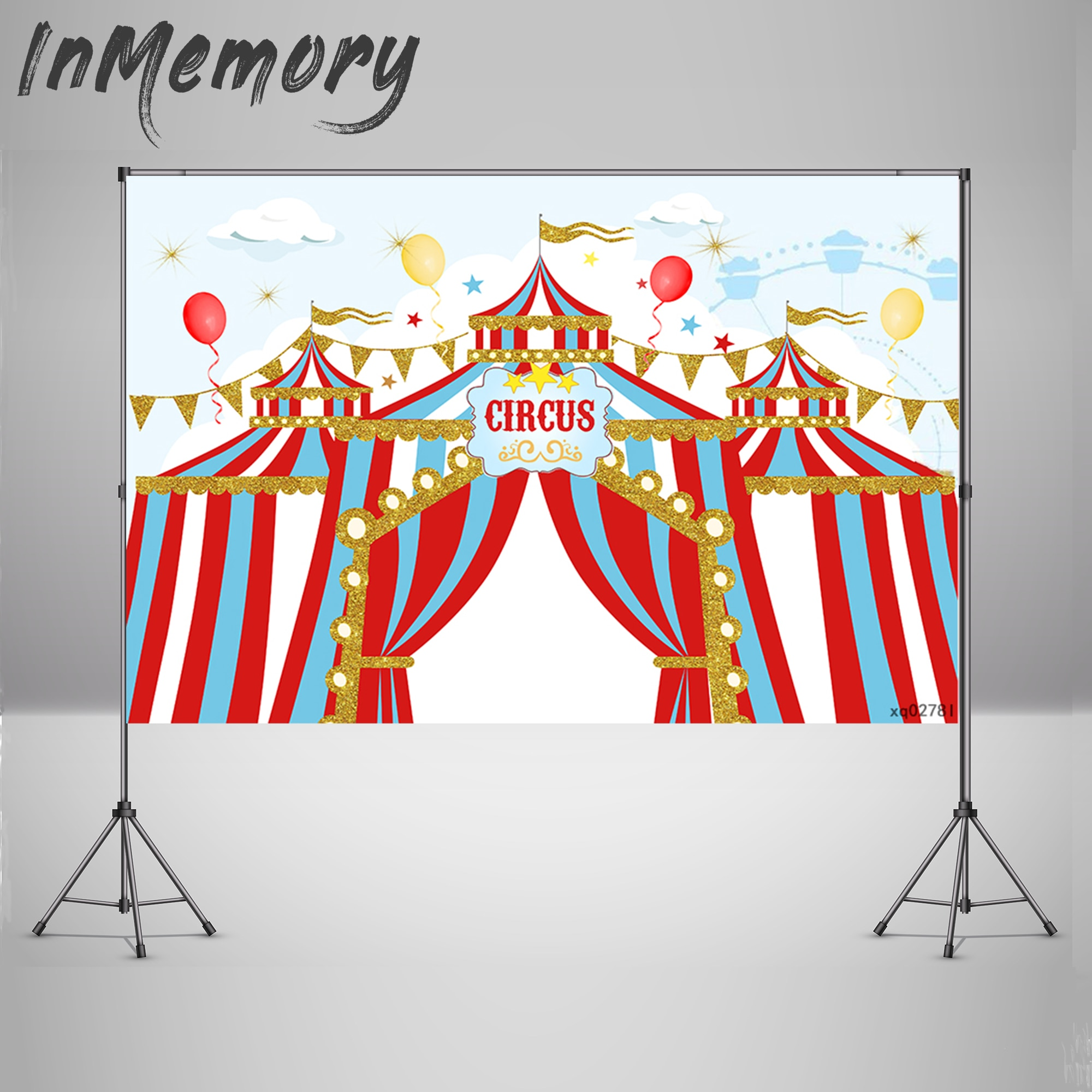 Carnival Party Decoration Photography Backgrounds Circus Backdrops Balloons Supplies Baby Portrait Photocall For Photo Studio