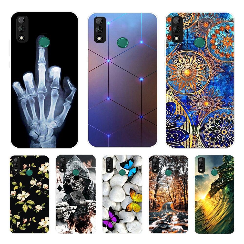 Чехол для Huawei Y6, 2019, мягкий силиконовый защитный чехол с принтом, чехлы для Huawei Y6S Y6, 2019, Y 6, Y8S, чехол Y9S Y6S 2020
