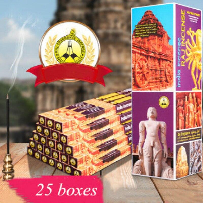 Encens indien bois de santal 25 boîtes   Encens ancien tour authentique, encens tibétain, encens revigorant esprit stérilisant