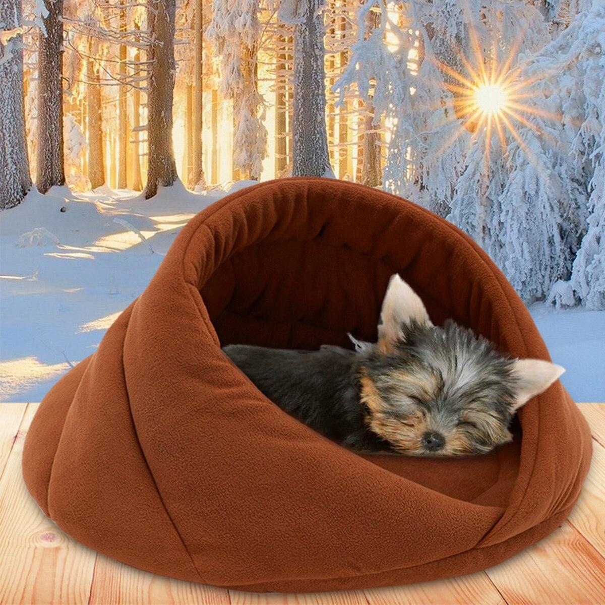 Cama de Gato cálida casa cueva zapatillas camas alfombra para perro tapete de gatito nido perrera cojín del sofá suave saco de dormir esteras para Gatos Perros suministros