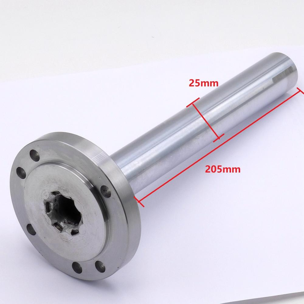 mt3 ms3 taper shank ring flange plate connector adapter for k11 k12 125mm 5 5inch 3jaws 4jaws 125 chuck lathe spindle milling Spindle Shaft Diameter 25mm Length 205mm Chuck Flange Back Plate Base Adapter Fit  K11/K12/K72-80 80mm