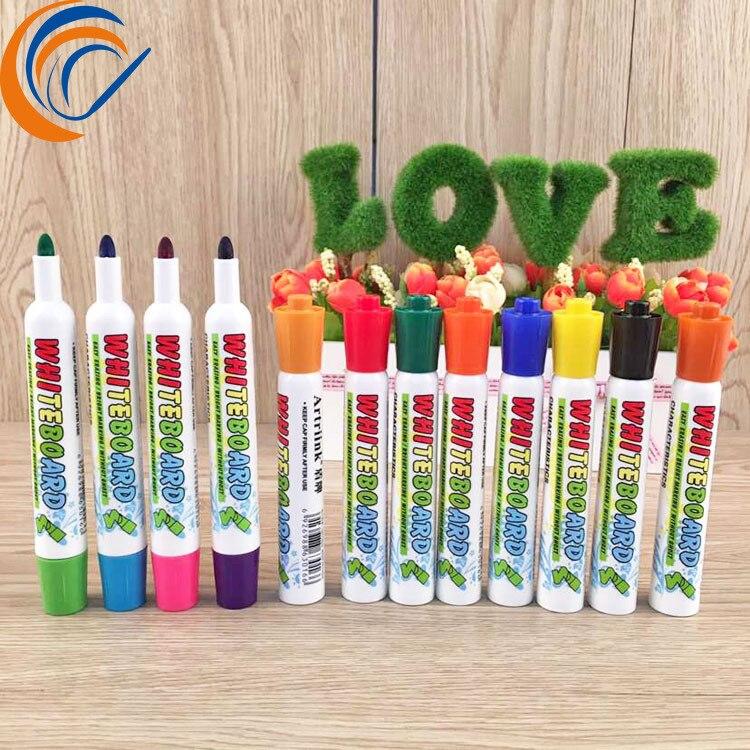 Канцелярские принадлежности оптом, 12 цветов в наборе, цветная ручка для белой доски оптом