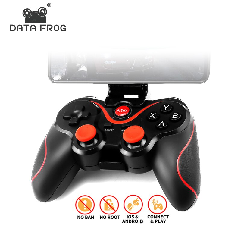 data frog 2 4g wireless game controller gamepad for ps3 xbox 360 android mini i8 keyboard optical mouse for android tv box pc DATA FROG Bluetooth Wireless Gamepad Game Controller For PS3 TV PC Laptop Joystick For Iphone Android Smart Phone Controller