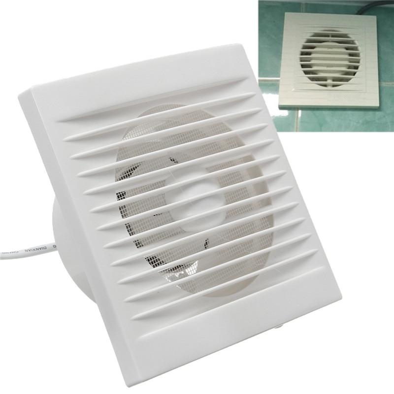 مروحة صغيرة للتعليق على عادم الحمام والمطبخ 220 فولت 4 بوصة 6 بوصة جدارية بيضاء للتهوية
