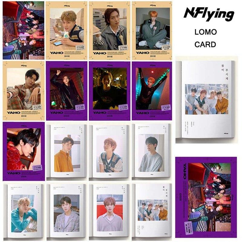 Nuevo 16 unids/set KPOP SUPER juvenil NUEST N.Flying álbum, tarjeta de foto, tarjetas de PVC, tarjetas de auto fabricadas LOMO, Photocard