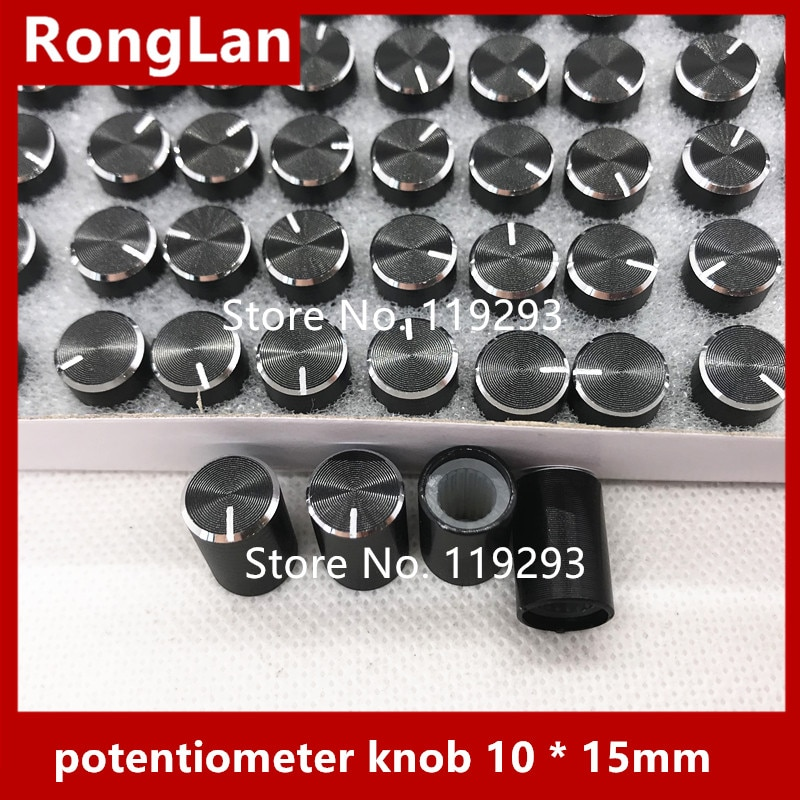 [BELLA] алюминиевая ручка громкости потенциометры, ручка потенциометра 10*15 мм 10x15 мм -- 100 шт./лот