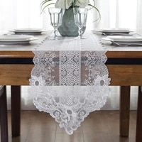 white lace dinner table runner luxury wedding embroidery table furniture cover home decor
