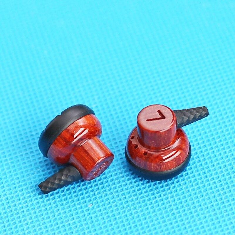 DIY Flat Headphone Housing 15.4mm Speaker Unit Headphone DIY Violet Red sandalwood