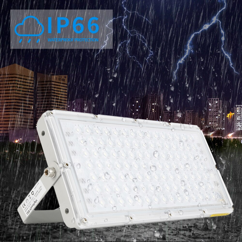 Foco LED Modular impermeable de 100W, 220V y 6500K, foco blanco frío, iluminación para exteriores, reflector para jardín