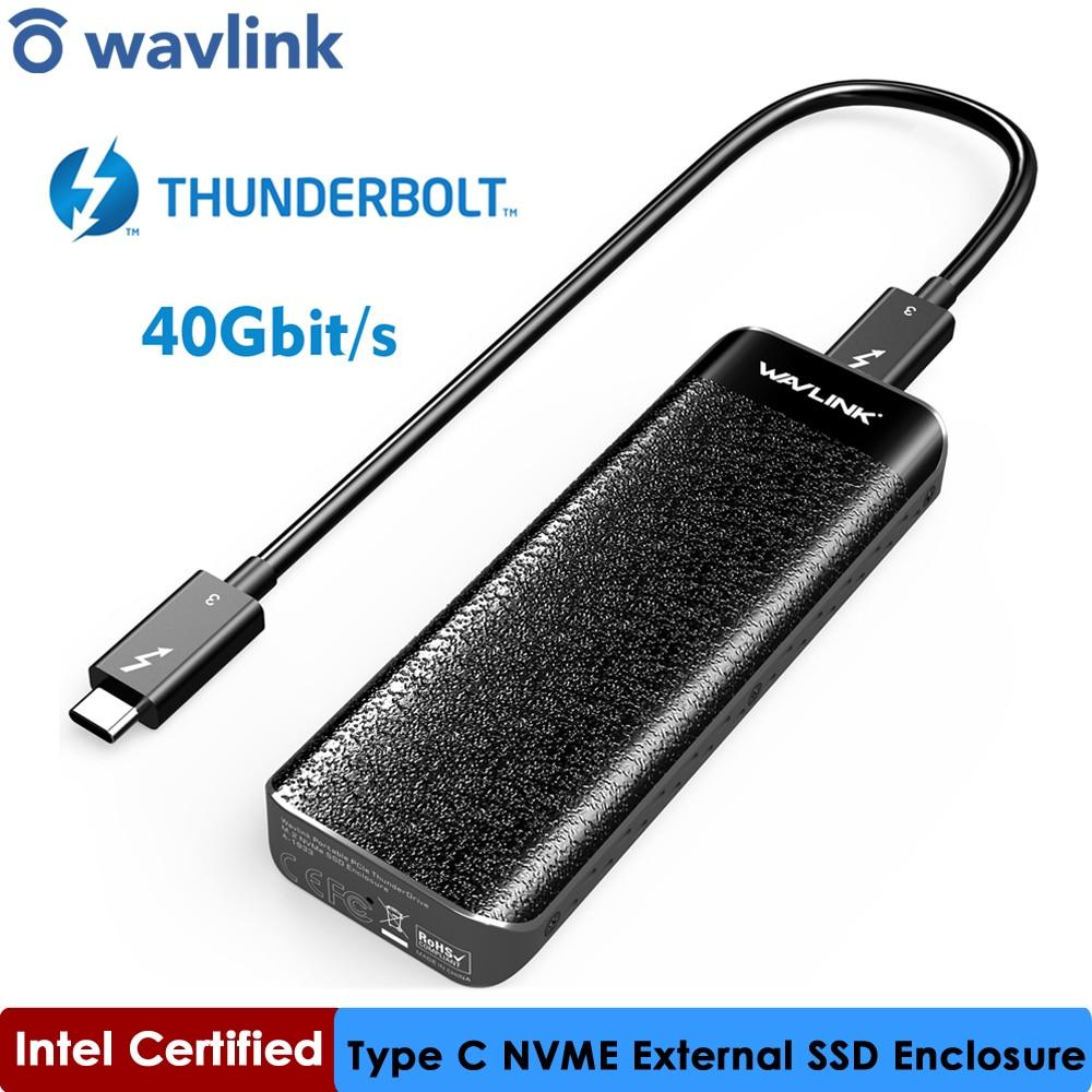 إنتل شهادة الصاعقة™3 NVME-SSD خارجي ، USB Type-C ، 40 جيجابت في الثانية ، تبديد ممتاز لنظام التشغيل Windows و Mac OS ، Wavlink