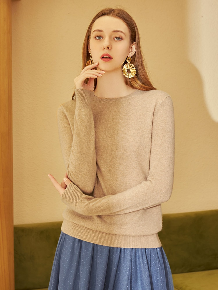 2020 New Pure Cashmere Sweater Women round Neck Pullover Knitting Shirt Sweater Bottoming Shirt enlarge