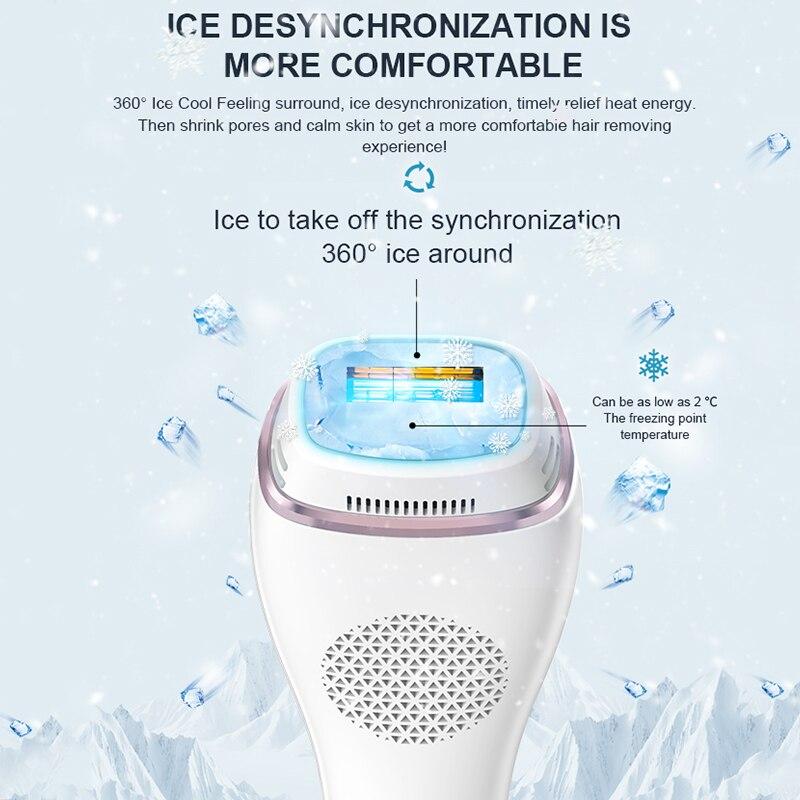 New IPL Epilator 1000000 Flashes Ice Cool Laser Hair Removal Epilator Depiladora 10 Levels Painless Whole Body Epilator enlarge