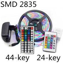 5m 10m 15m LED strip light luces led SMD 2835 DC 12V RGB lights tape waterproof Party neon 5 meters 60LEDs/MIR 24/44 key set