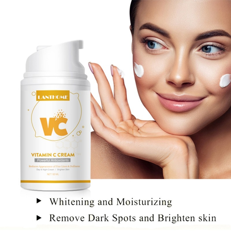 50ml Vitamin C Whitening Cream Natural Essence VC Cream Freckle Blemish Brighten Moisturizing Hyaluronic Face Cream недорого