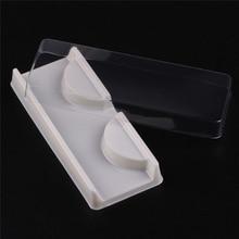 50 sets Wimpern Fall Verpackung box für wimpern leere wimpern kunststoff verpackung transparent deckel weißen tablett make-up Fall
