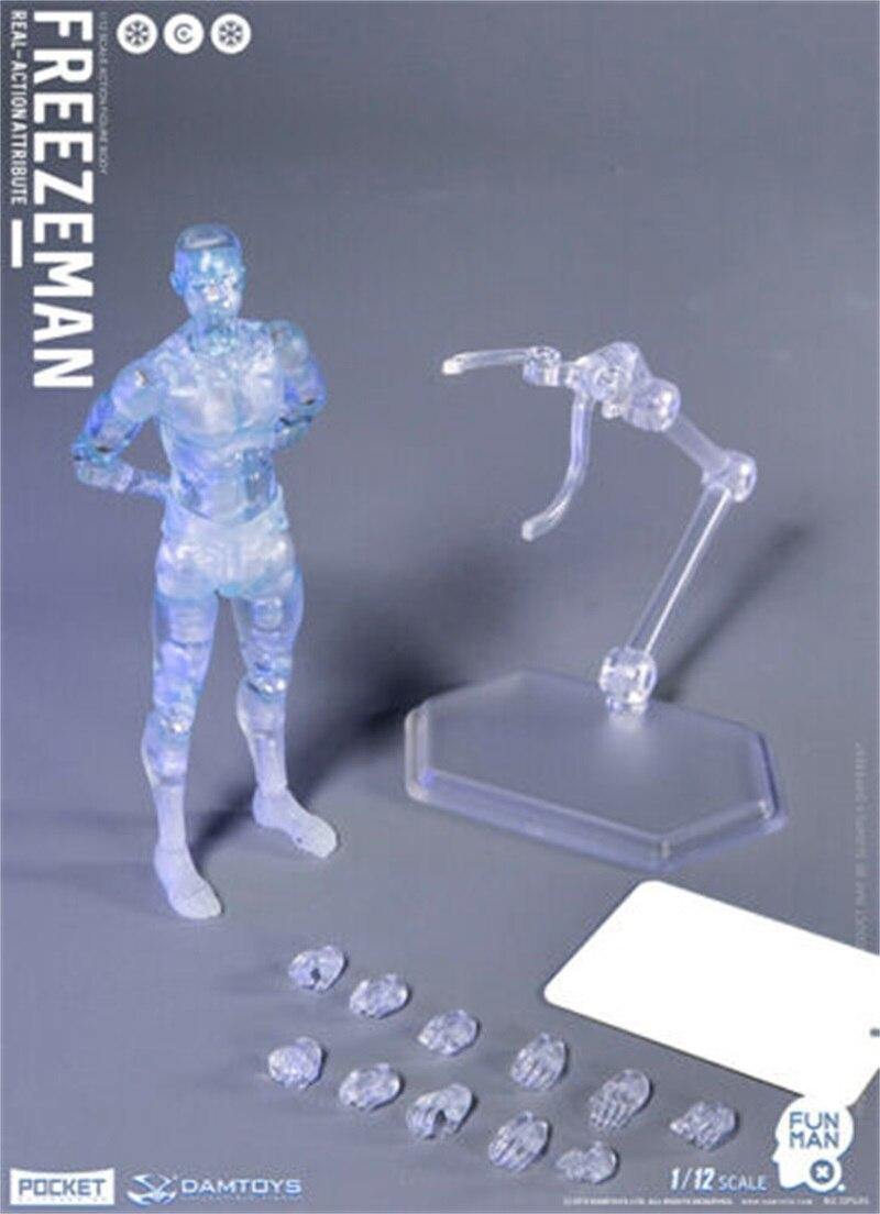 """In Magazzino DAMTOYS 1/12 DPS05 Freezeman Mini 6 """"Maschio Figure Da Collezione W/Testa"""