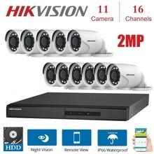 DVR 2 mp 16 canaux pour lextérieur   11 pièces, 2 mp, 4 en 1 TVI/CVI, kit de système de vidéosurveillance à vision nocturne et de sécurité des caméras AHD/CVBS