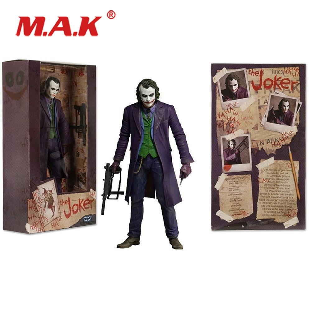 7 anime figure neca pvc jason voorhees friday ultimate horror deluxe edition action figure model toys for collection gift 7'' NECA  The Dark Knight The Joker Heath Ledger PVC Figure Toys Model Children Boys Gift For Collection