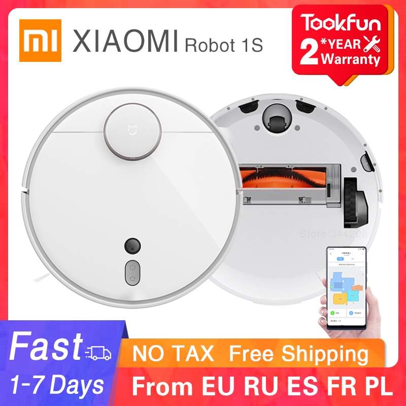 2020 XIAOMI MIJIA Mi Robot Vacuum Cleaner 1S 2 for Home Automatic Sweep Dust Sterilize cyclone Suction WIFI APP Smart Planned RC