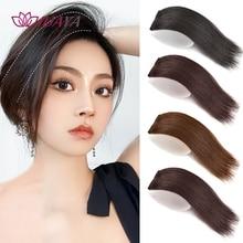 HUAYA-almohadillas para el pelo de una/dos piezas, pelo sintético liso, Invisible, espesado, raíz, extensión de cabello alto, pieza de cabello falso