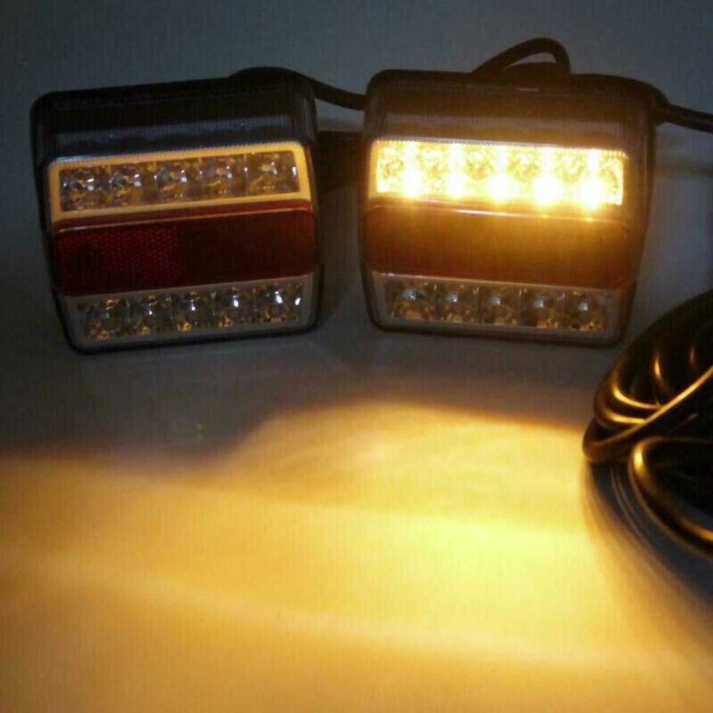 2 Pcs Rear LED Submersible Trailer Tail Lights Kit Boat Marker Truck Waterproof Drop Shipping enlarge