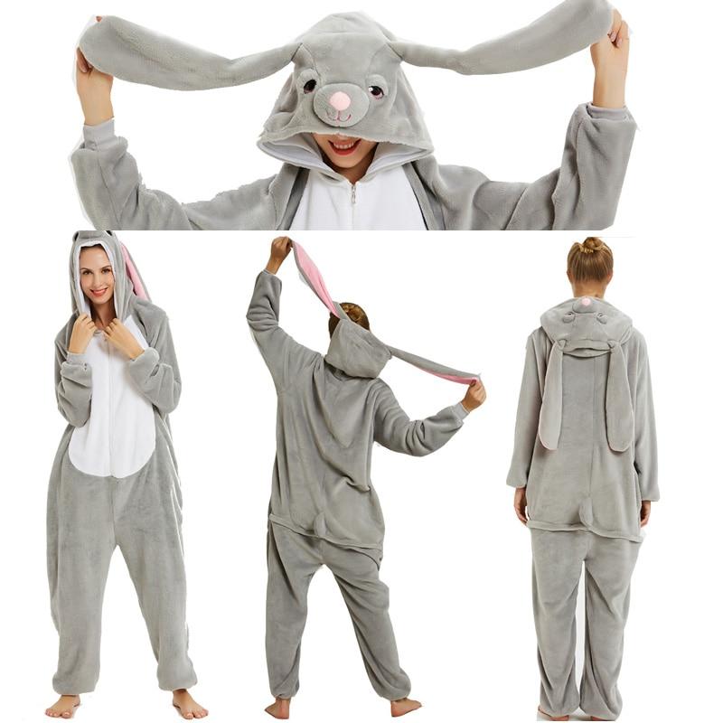 Adulto macacão kigurumi feminino trajes cosplay animal dos desenhos animados pijamas ponto unicórnio tubarão inverno quente hoodie pijamas de flanela