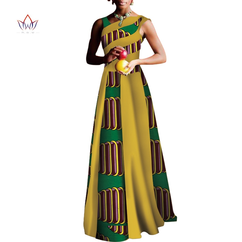 2020 robes africaines pour femmes Design de mode Dashiki femmes Bazin Riche longue robe Dashiki traditionnel grande taille naturel WY3558