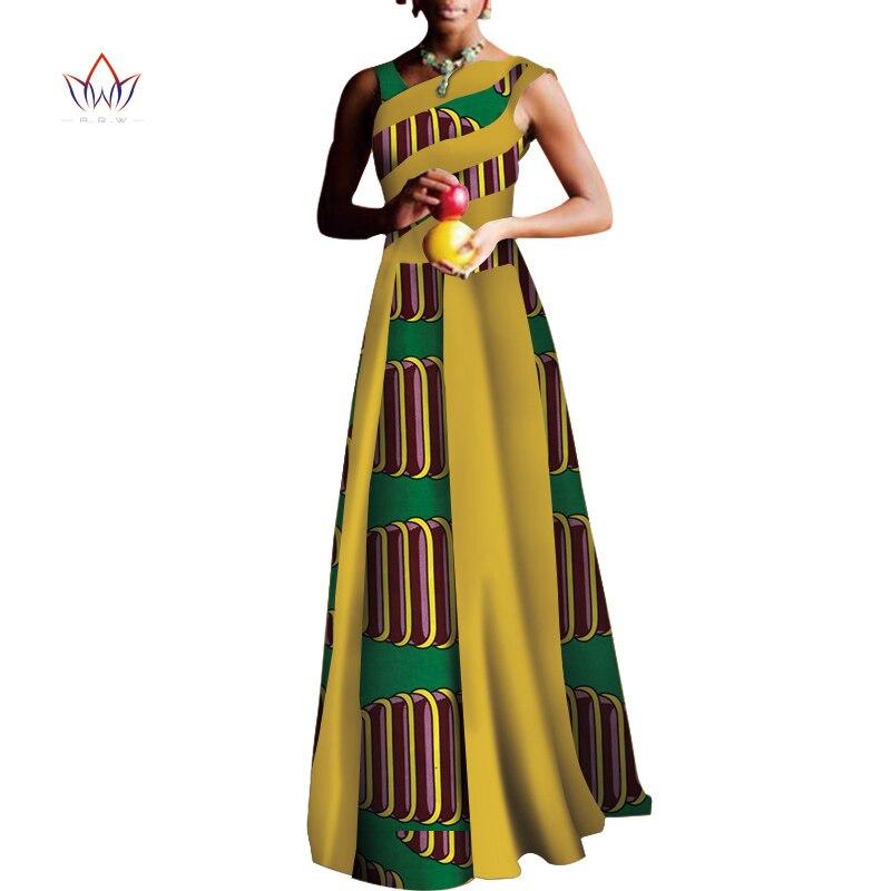 2020 vestidos africanos para mujeres moda de diseño Dashiki mujeres Bazin Riche vestido largo Dashiki tradicional de talla grande Natural WY3558