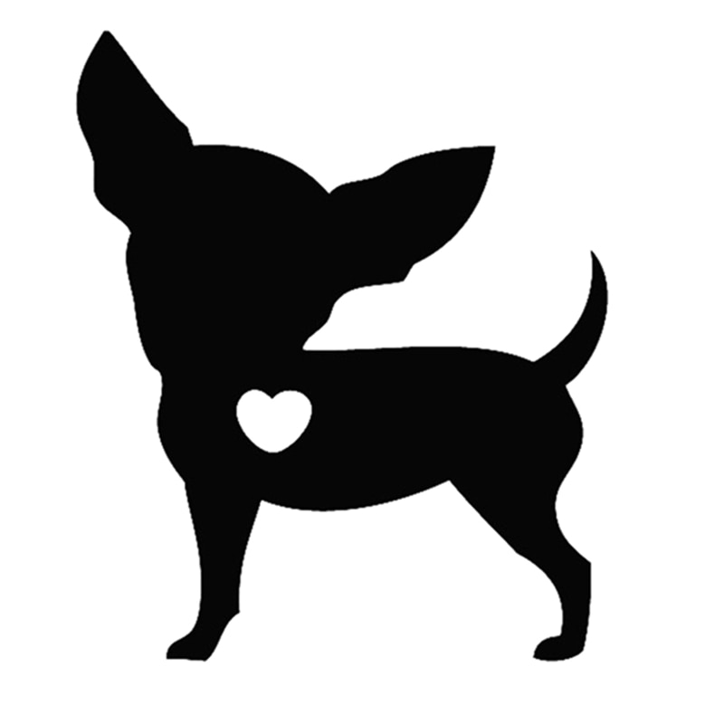 CK3271# I Love My Chihuahua Dog funny car sticker vinyl decal waterproof auto stickers silver/ black for bumper