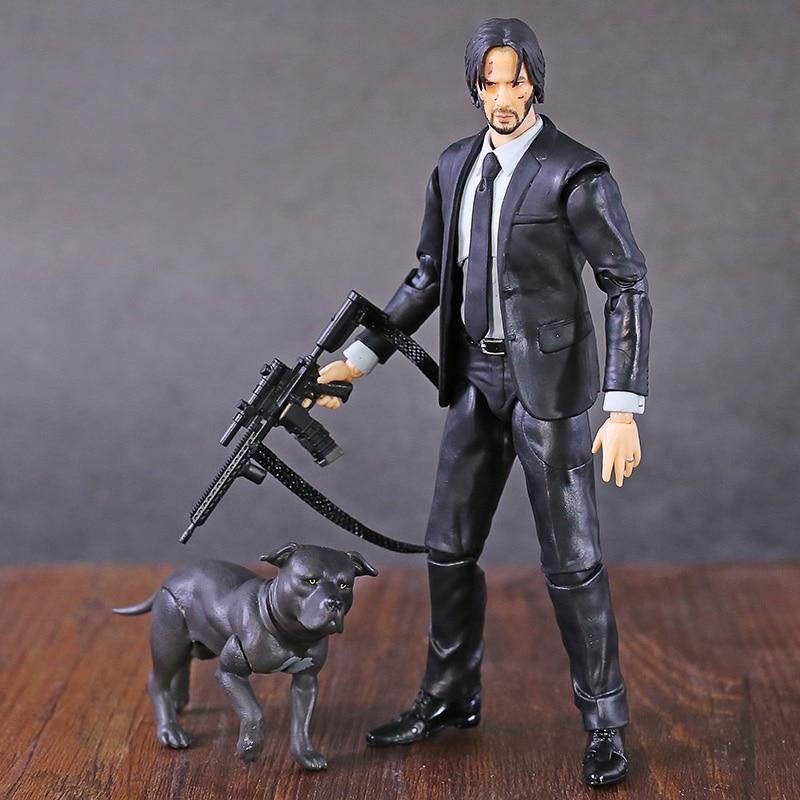 Mafex 085 john wick capítulo 2 keanu reeves pvc figura de ação collectible modelo brinquedo
