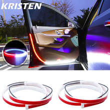 LED Car Door Welcome Light Safety Warning Streamer Lamp Strip 120cm Waterproof Auto Decorative Ambient Lights