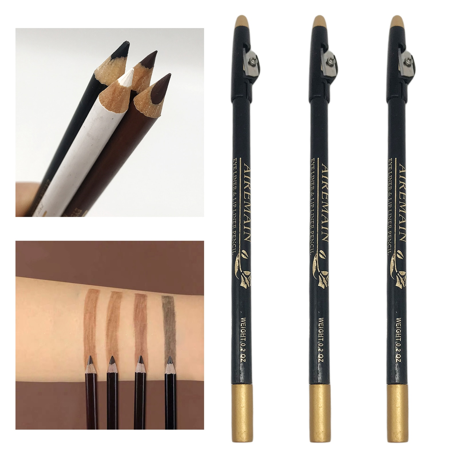 3x Barber Magic Pencil Tool for Making Distinctive Beard Mustache Arches Shaver - perfect for drawing a natural hairline