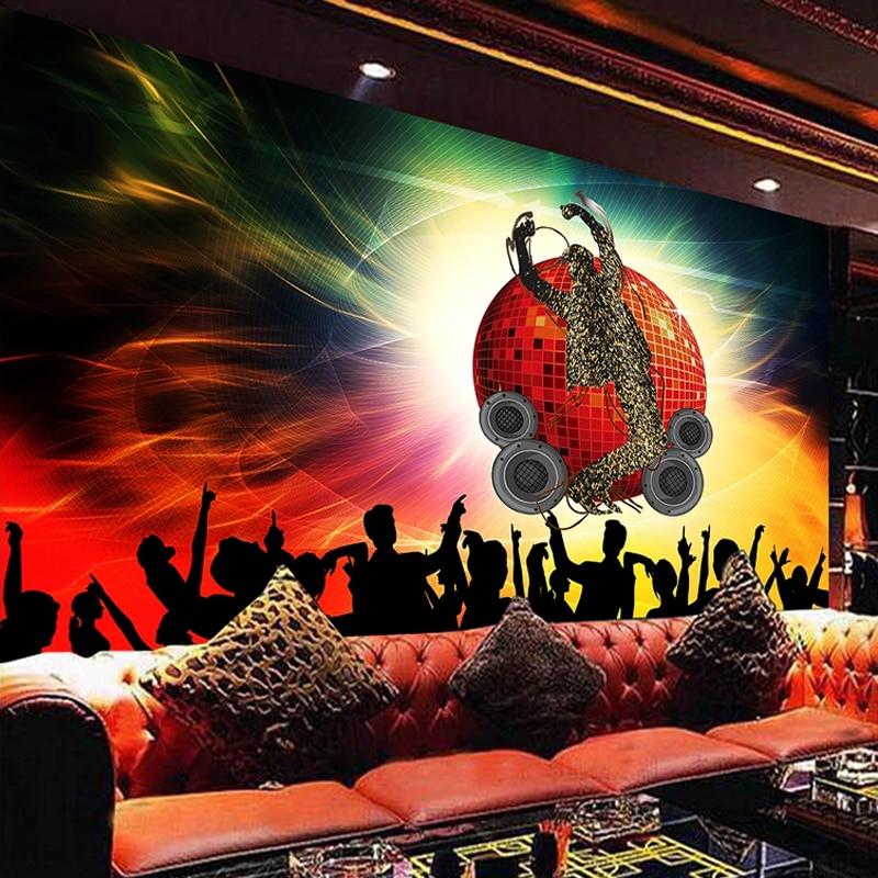 Papel de pared de Mural personalizado, sala de baile KTV, barra de música, Fondo de herramientas, Mural 3D de póster, Pintura Artística, papel tapiz decorativo para sala de estar