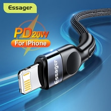 Essager USB Cable For iPhone 12 11 Pro Max Xs X PD 20W Fast Charging USB Type C For iPhone iPad Char