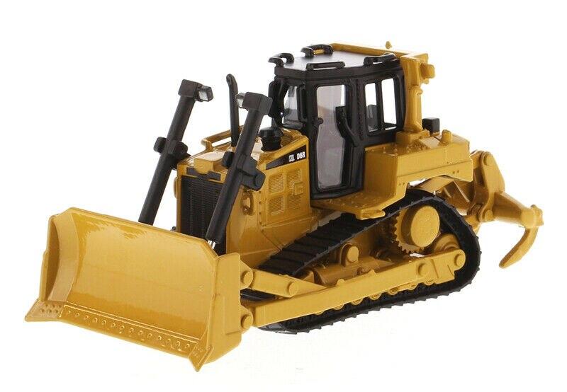 Литый трактор D6R, бульдозер трекового типа, строительная техника, в наличии, Коллекционная модель автомобиля из сплава 1/64 DM 85607, для вентилят...