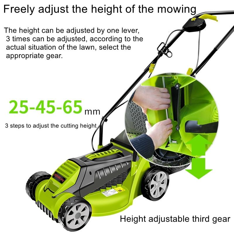1600W powerful electric lawn mower lawn mower hand push electric household lawn mower lawn mower enlarge