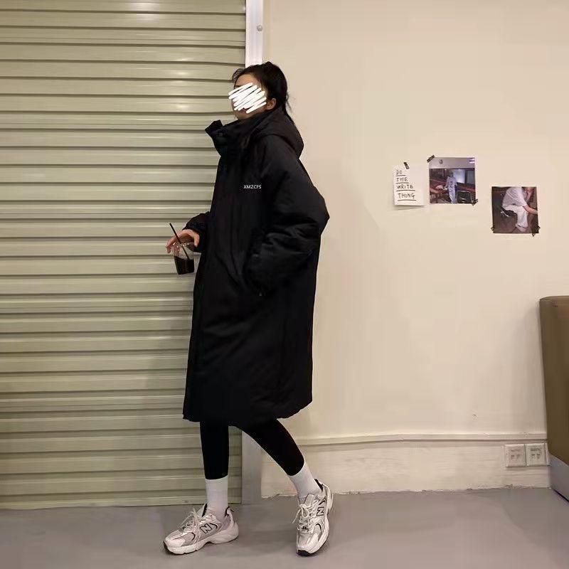 Новый стиль, женская зимняя стеганая куртка средней длины, Студенческая стеганая куртка из хлопка, стеганая куртка, свободная стеганая курт...