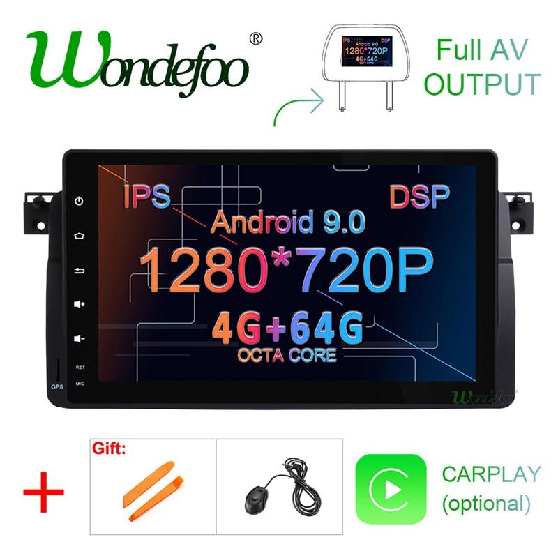 "9 ""IPS 4G DSP Android 9,0 4G 64G auto GPS für BMW E46 Limousine Rover 75 1999 2000 2001 2002 2003 2004 MG ZT multimedia player keine DVD"